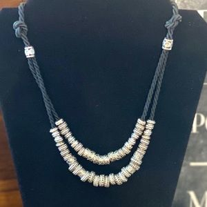 Rope Necklace with Silver Accents